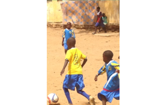 Senegal Students Playing in Donated Uniforms